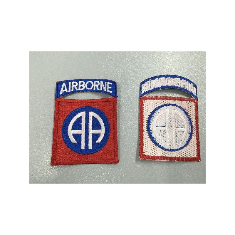 PARCHE AIRBONE ROJO/AZUL