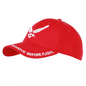 GORRA BEISBOL REMOVE BEFORE FLIGHT ROJO