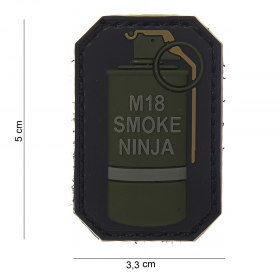 PARCHE 3D PVC M-18 SMOKE NINJA