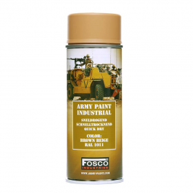 PINTURA SPRAY MILITAR FOSCO 400 ML. MARRON BEIGE