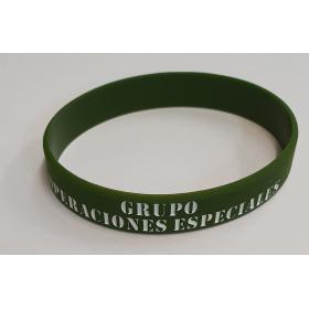 PULSERA GOMA VERDE GRUPO OPERACIONES ESPECIALES