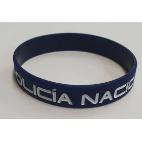 PULSERA GOMA AZUL POLICIA NACIONAL