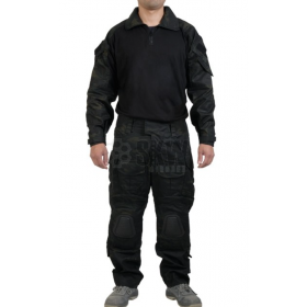 UNIFORME COMBATE DELTA TACTICS MULTICAM BLACK